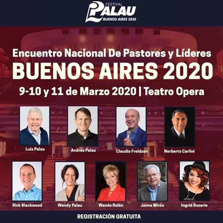 Encuentro Nacional de Pastores y líderes (Bs As, 9 al 11 de marzo, 2020)